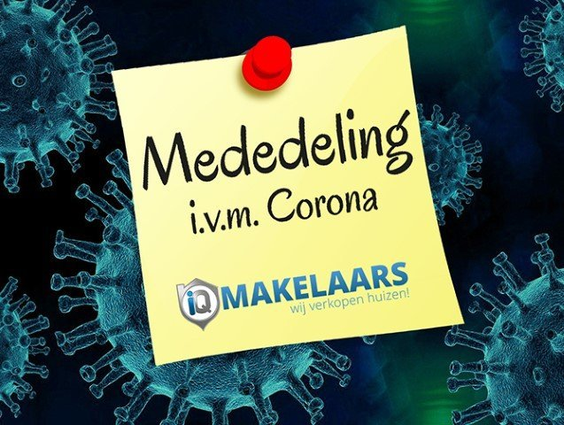 Het iQ Makelaars beleid met het oog op het Corona-virus